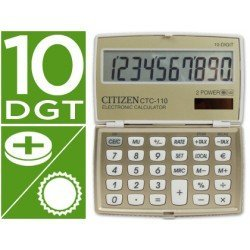 Calculadora bolsillo Citizen Modelo CTC-110B 10 digitos Champan