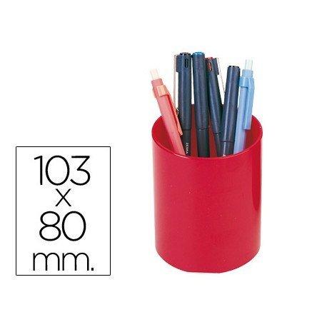 Cubilete portalápices marca Csp rojo APC-180-R