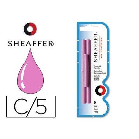 Cartuchos de tinta Sheaffer Classic color rosa