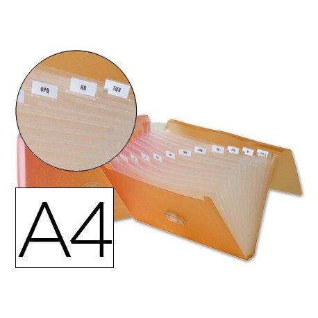 Carpeta clasificadora polipropileno Beautone Din A4 naranja
