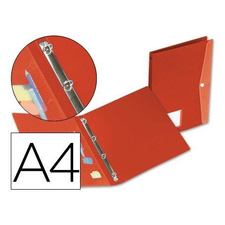 Carpeta de 4 anillas Beautone polipropileno lomo 17 mm rojo