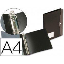 Carpeta de 4 anillas Beautone polipropileno Din A4 negro