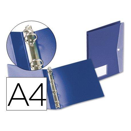 Carpeta de 4 anillas Beautone polipropileno A4 azul
