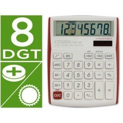 Calculadora sobremesa Citizen Modelo CDC-80 8 digitos roja