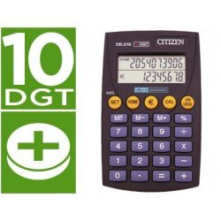 Calculadora Bolsillo Citizen Modelo DE-210 euro 10 digitos