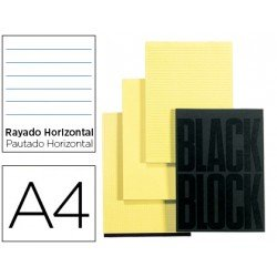 Bloc de notas Din A4 Black Block rayado horizontal