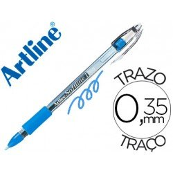 Boligrafo marca Artline 1700 Softline 0.7 mm color Celeste