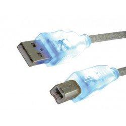 Cable usb 2.0 marca Mediarange longitud 1,8 metros para impresora tipo a-b