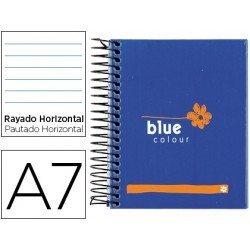 Bloc espiral marca Liderpapel Mediterranea blue A7