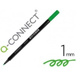 Rotulador Q-Connect punta de fibra redonda 1mm color verde