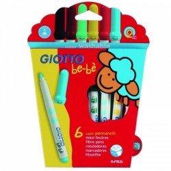 Rotulador marca Giotto Bebe caja de 6 colores