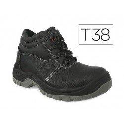 Botas de seguridad Marca Faru Cuero Negro Talla 38