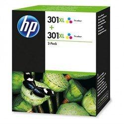Cartucho HP N 301XL Deskjet Tricolor Pack de 2 D8J46AE