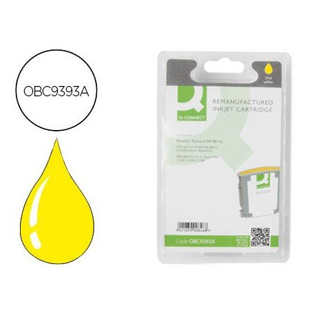 Cartucho compatible HP 88 XL color Amarillo C9393A