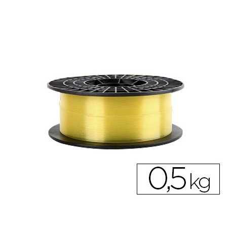 Filamento 3d Colido Gold translucido X PLA 1.75 mm color amarillo
