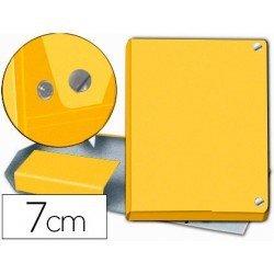 Carpeta Pardo para proyectos folio lomo 70 mm Amarillo broche