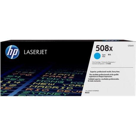 Cartucho de toner original LaserJet HP 508X color cian de alta capacidad
