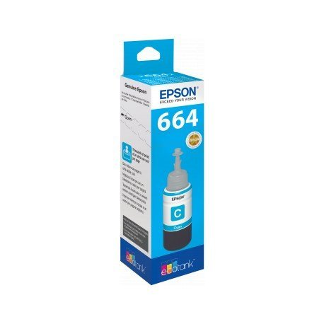TINTA EPSON T6642 ET2500/2550/ /14000/L475/565/575/4500 CIAN BOTELLA 70 ML 6.500 PAG