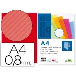 Tapa de Encuadernacion Onudlada Polipropileno Liderpapel DIN A4 Rojo 0.8mm