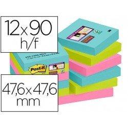 Bloc Quita y Pon Post-It ® Super Sticky 47,6X47,6 mm Colores Miami