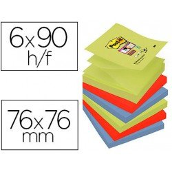 Bloc Quita y Pon Post-It ® Super Sticky Z-Notes 76X76 mm Color Marrakesh