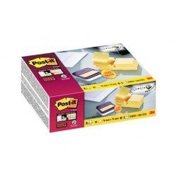 Dispensador Bloc Quita y Pon Post-It ® Super Sticky 76x76 mm Color Amarillo