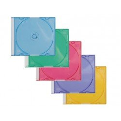 Caja de CD/DVD Slim marca Q-Connect surtido