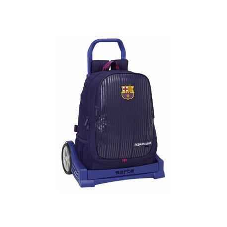 Mochila Escolar Doble F.C. Barcelona Con Carro Evolution 32x16x44 cm 2ª equipacion