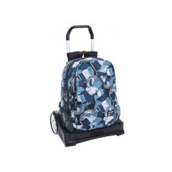 Mochila Escolar Lotto Con Carro Evolution 32x16x44 cm Flag
