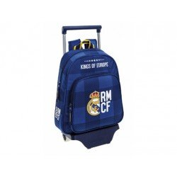 Mochila Infantil Real Madrid con ruedas y carro 28x10x34 cm Blue