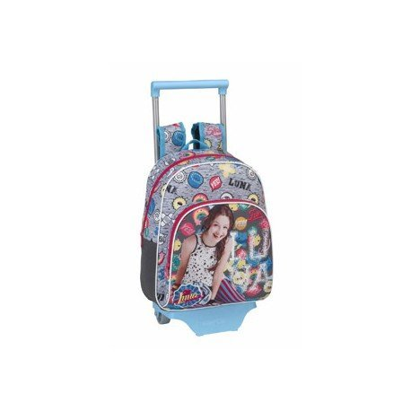 CARTERA ESCOLAR SAFTA CON CARRO SOY LUNA ATHLETIC 270X340X100 MM