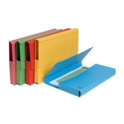 Subcarpeta Cartulina Reciclada DIN A4 Exacompta con bolsa Colores Surtidos 290 gr 50 unidades