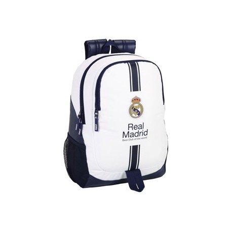 Mochila Escolar Real Madrid Adaptable a carro 32x16x44 cm 1º equipacion