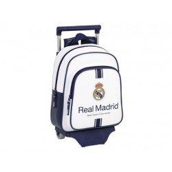 Mochila Infantil Real Madrid con ruedas y carro 27x10x33 cm 1º equipación