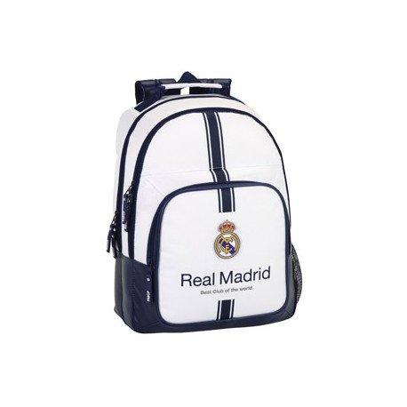 Mochila Escolar Real Madrid Adaptable a Carro 32x16x42 cm 1º equipacion