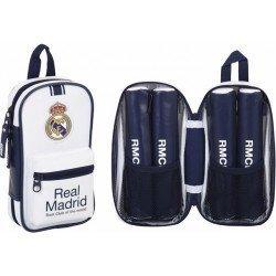 Plumier Escolar Real Madrid 12x5x23 cm 1º Equipacion 4 portatodos