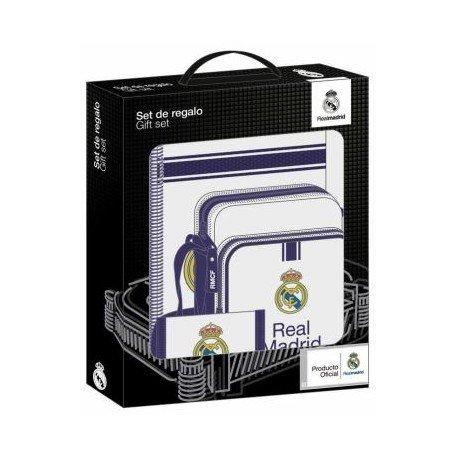 Set Regalo Escolar Real Madrid 1º equipacion 2016-2017