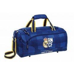 CARTERA ESCOLAR SAFTA REAL MADRID BLUE BOLSA DEPORTE 500X250X250 MM