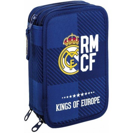 Plumier Escolar Real Madrid 12,5x6x20,5 cm Blue