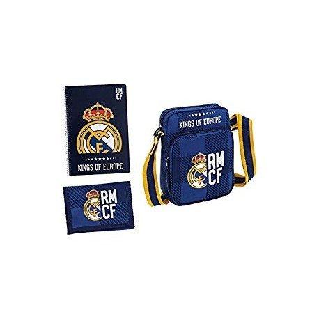 SET REGALO PEQUEÑO REAL MADRID BLUE 280X350X60 MM