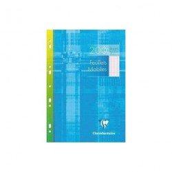 Recambio Clairefontaine Hojas Multitaladro 100 hojas A4 Milimetrado simple