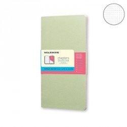 Libreta Moleskine Tapa Blanda de bolsillo Punteado 9,5x18 cm Color Verde Niebla