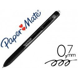 Boligrafo Paper Mate Inkjoy Retractil Gel 0,7 mm Color Negro