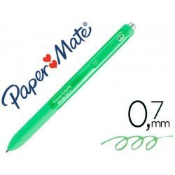Boligrafo Paper Mate Inkjoy Retractil Gel 0,7 mm Color Verde Lima