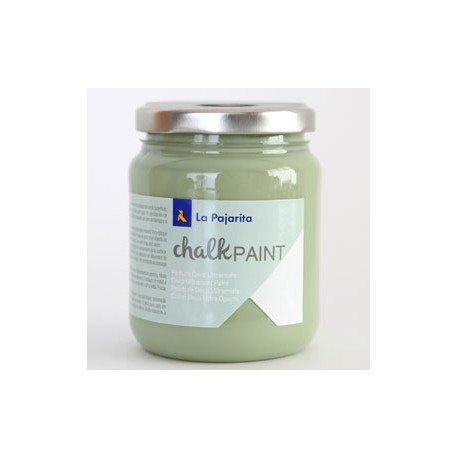 Pintura Acrilica La Pajarita Efecto Tiza Color Verde Bambu 175 ml Chalk Paint