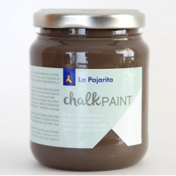 Pintura Acrilica La Pajarita Efecto Tiza Color Marron Glace 175 ml Chalk Paint