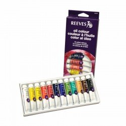 Pintura Óleo Reeves 12 colores surtidos 10 ml