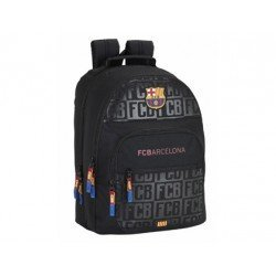 CARTERA ESCOLAR SAFTA F.C. BARCELONA BLACK MOCHILA DOBLE ADAPTABLE A CARRO 320X420X160 MM