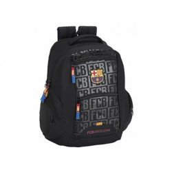 CARTERA ESCOLAR SAFTA F.C. BARCELONA BLACK MOCHILA 320X440X200 MM