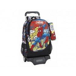 Mochila Escolar Spiderman Con Carro 905 32x16x44 cm Ultimate